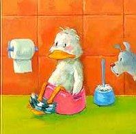 pato haciendo caca